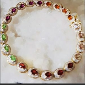 Jewelry - ✨Estate✨14K   Yellow /White  Gold Tennis Bracelet